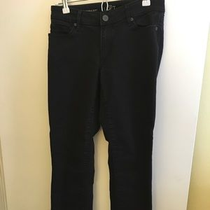 Loft, Black Jeans. Curvy Straight. Size 4 (27)